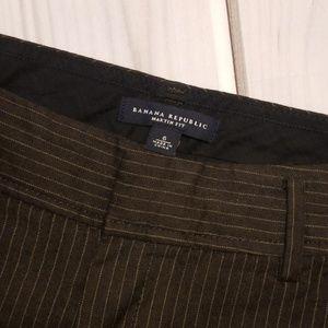 Banana Republic Pants - Banana Republic Brown Martin Pinstripe Pant Size 6
